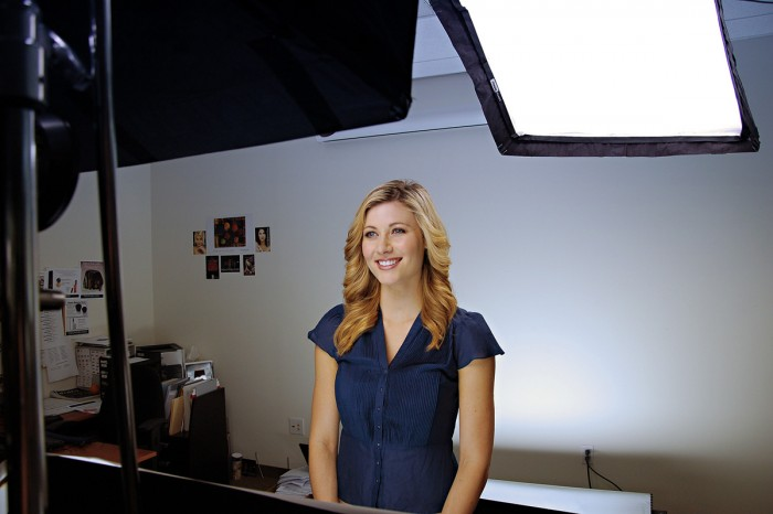 a host of a product video seen behind the scenes by video production company in Los Angeles