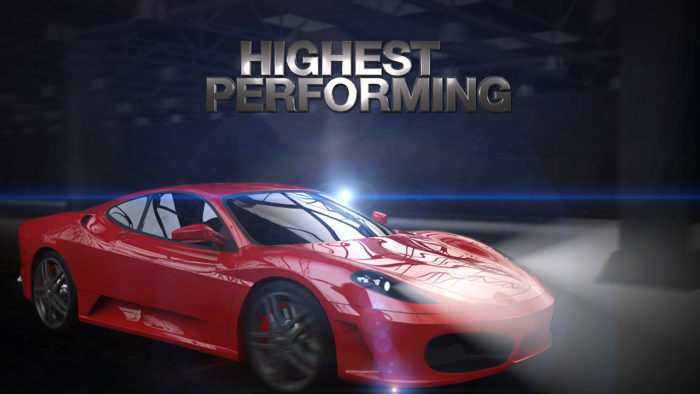3D animation of ferrari for car paint refinishing promotional video