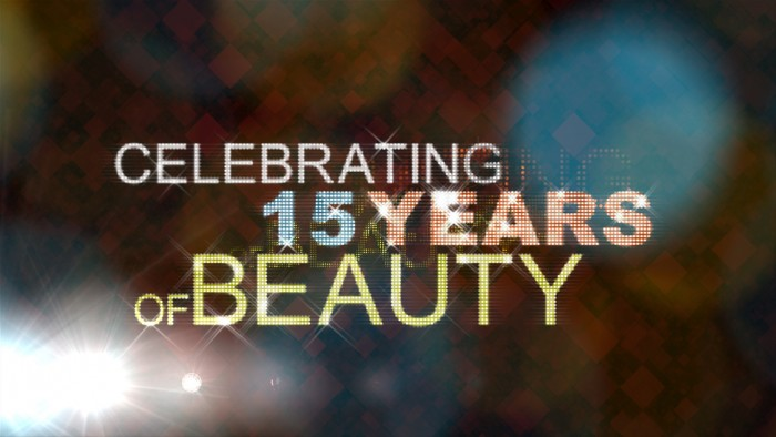 graphic for event video for cosmetics company