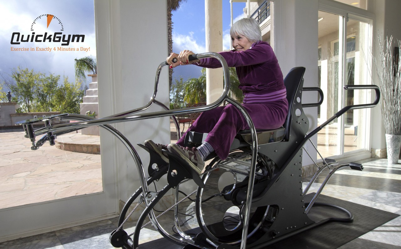 woman exercises on a high intensity training machine in commercial by production company in Los Angeles Gate5