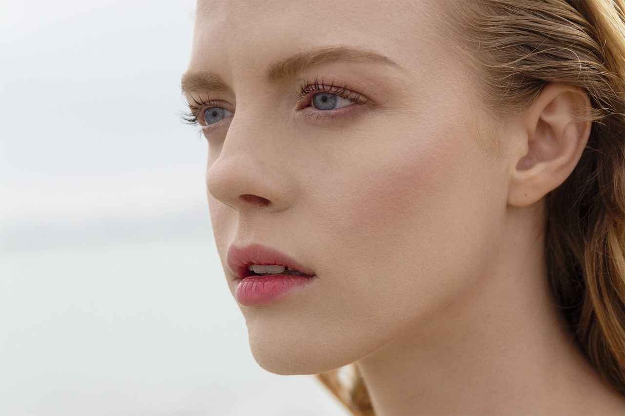 natural look on model on beach