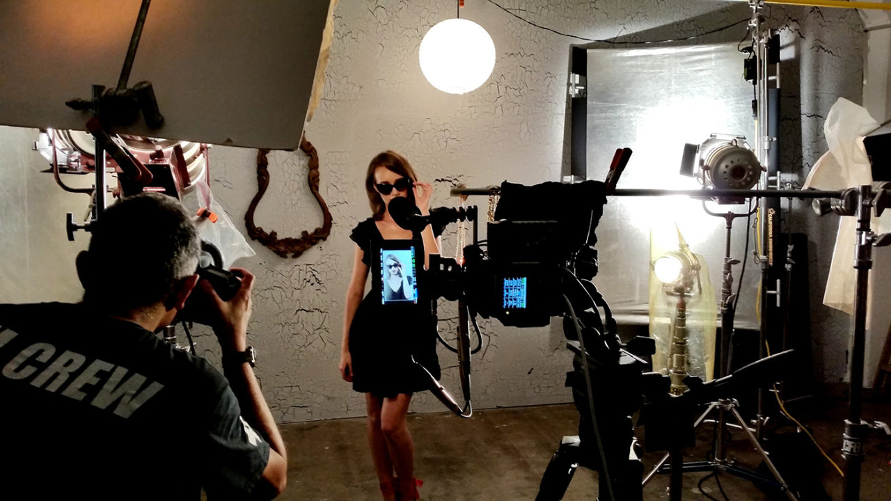 fashion film shot in portrait mode behind the scenes