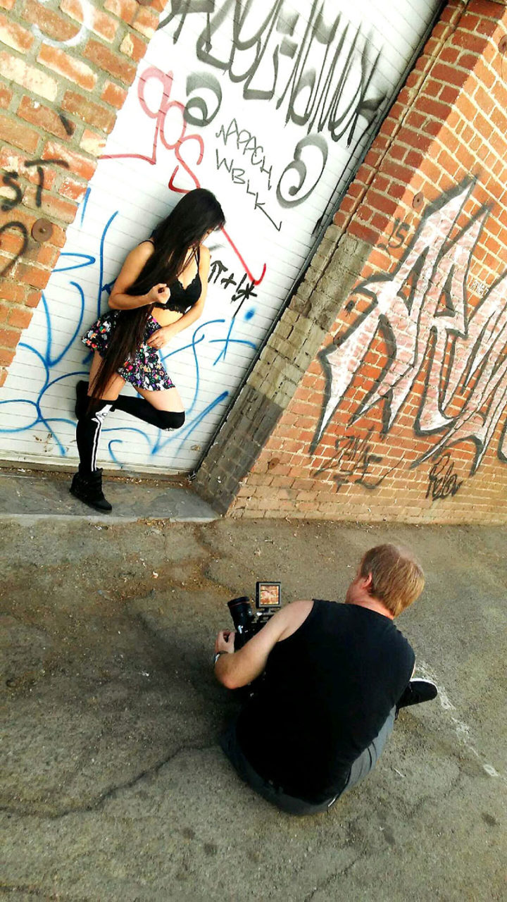 fashion film director greg mcdonald shoots female model