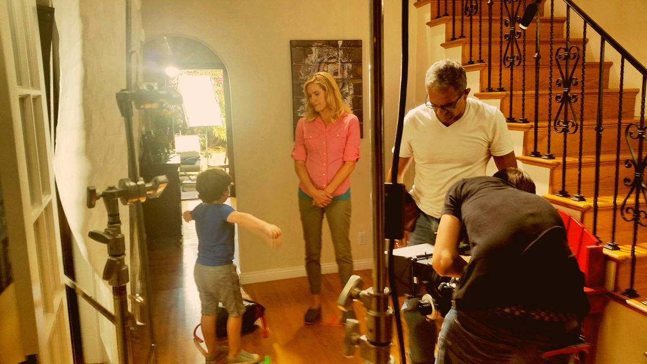 film crew kids sippy cup commercial behind the scenes