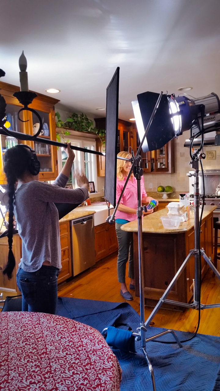 behind the scenes mom in kids snack dispenser promo video