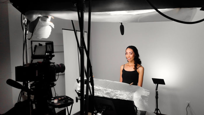 behind the scenes set up for makeup training video