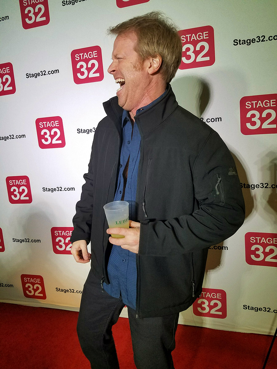 director greg mcdonald at stage32 party