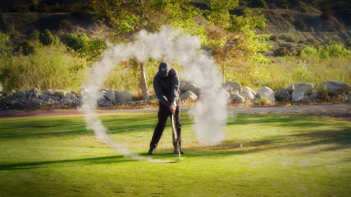 rocket powered golf club