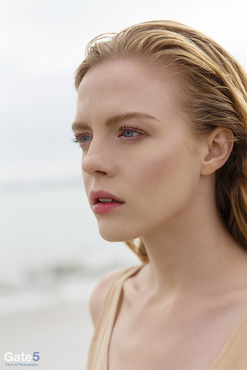 beauty photography of a model at the beach