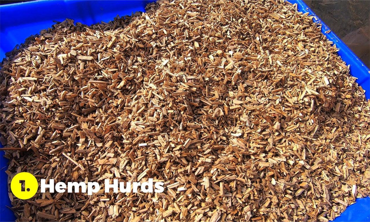 hemp hurds for making hempcrete
