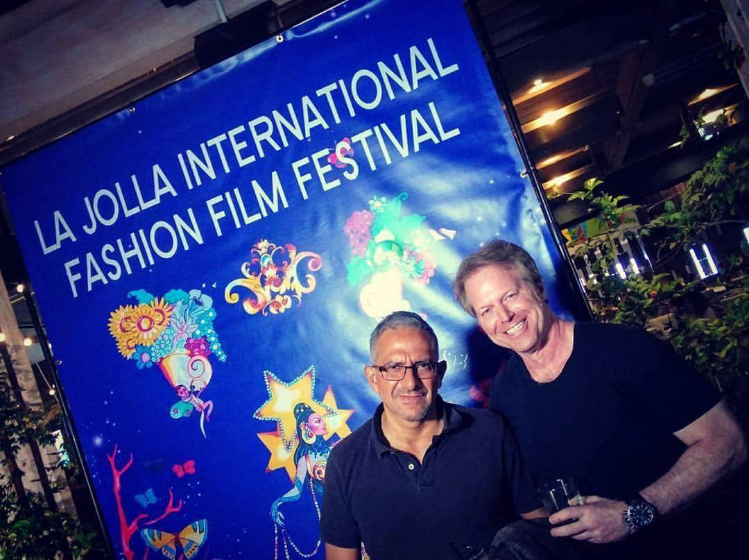 fashion film director Greg Mcdonald at La Jolla Festival and Roberto Correa