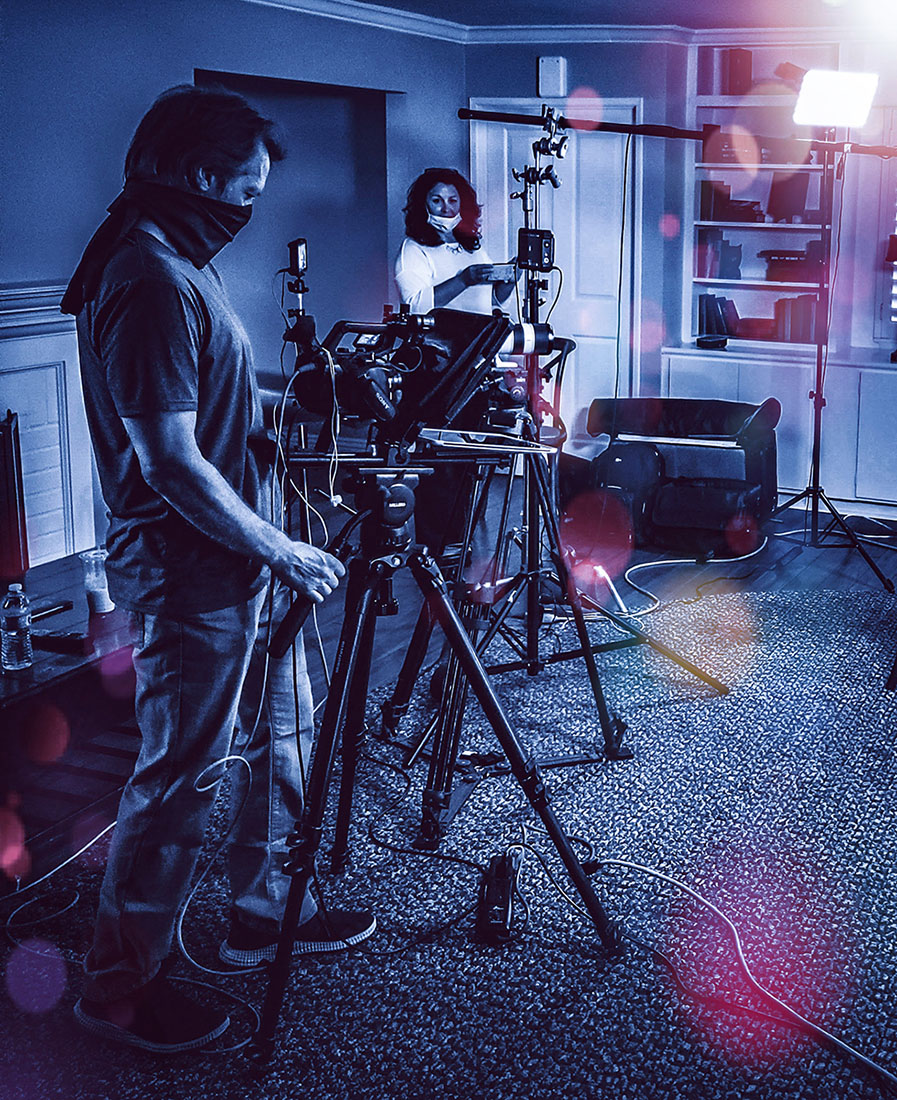behind the scenes of business profile video production