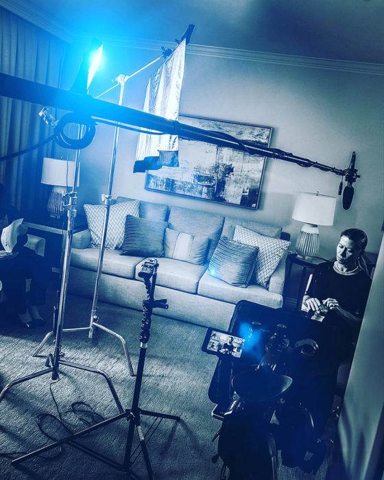 Behind the scenes of a corporate video production in Los Angeles by Gate5